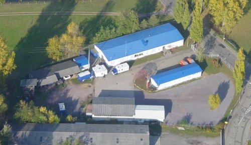 Luftaufnahme unserer Unterkunft